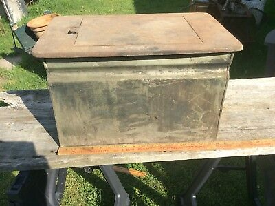 Antique Water Bin For Wood Cooking Stove , Cast Iron Top And Brass ?