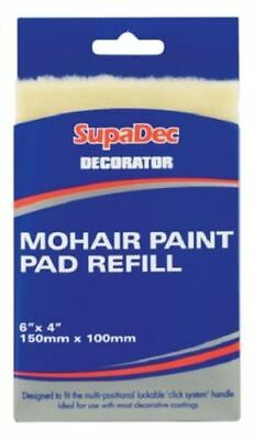 "Supadec Decorator Mohair Paint Pad Refill 6"" x 4"" Painting Decorating DIY"