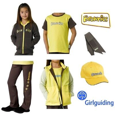Brownie Uniform Sash, T-shirt, Leggings, Cap, Skort, Hoodie, Trousers. Gilet NEW