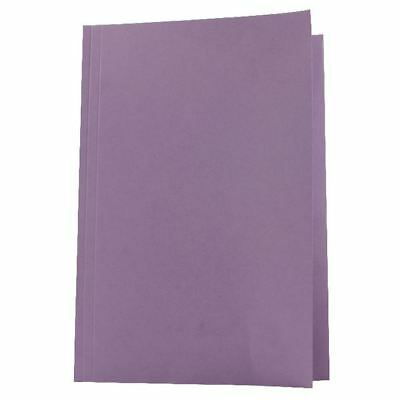 Guildhall Foolscap Mauve Mediumweight Square Cut Folder Pack of 100  [JT43214]