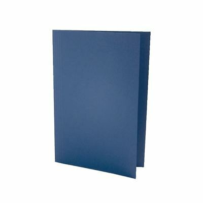 Guildhall Foolscap Blue Mediumweight Square Cut Folder Pack of 100 [JT43203]