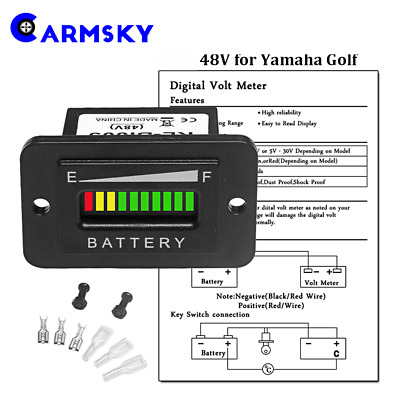 48 Volt Golf Cart Battery Meter Wiring Diagram from www.picclickimg.com