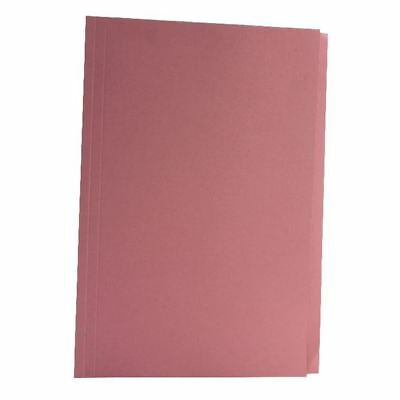 Guildhall Foolscap Pink Mediumweight Square Cut Folder Pack of 100 [JT43207]