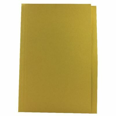 Guildhall Foolscap Yellow Mediumweight Square Cut Folder Pack of 100 [JT43209]