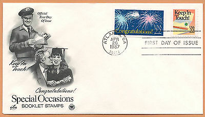 """US 1987 V.F. FDC The Postal Commemorative Society """" Special Occasions """" #4"""