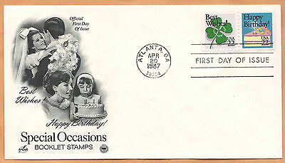 """US 1987 V.F. FDC The Postal Commemorative Society """" Special Occasions """" #1"""
