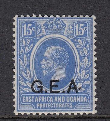 G.E.A Tanganyika 1921- SG64a- 15c blue - raised stop after A - Mounted mint