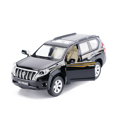 Toyota Land Cruiser Prado SUV 1/32 Diecast Model Car Toys Sound&Light Black Gift