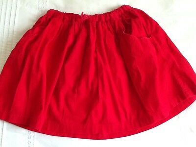 mini boden red skirt age 6-7 years