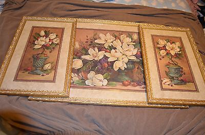 Magnolia Blooms  Print - 3 Piece HOME INTERIORS Picture Set By BARBARA MOCK