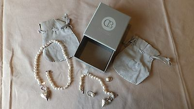 Claudia Bradbury-Matching Set-Pearl Necklace,Bracelet&Earrings NEW cost £225