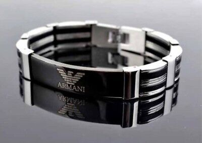 Men Armani Titanium Stainless Steel Bracelet Brand New Gift Without Box