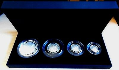 2010 BRITANNIA SILVER PROOF SET - 1.85 troy ounces of pure silver - top grades