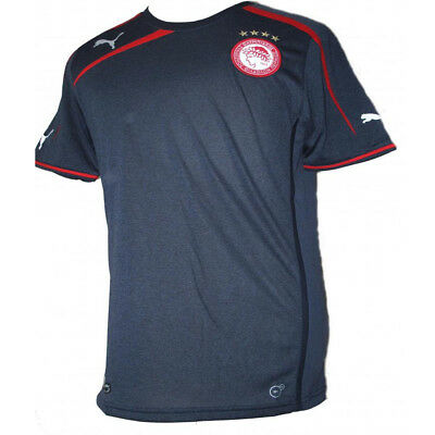 Olympiacos Football Shirt Greece Puma Away denim Blue Team Jersey 2013-14 Small