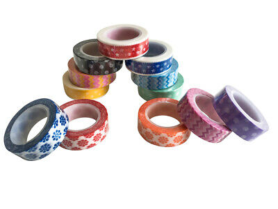 Jumbo-Set Washi Tapes, 12 x 10m, EWT-15-A-0040-1 - 120 Meter Washi-Tape!!