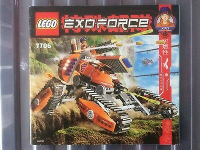 instructions for Lego exo-force set 7706 mobile defence tank