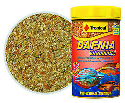 Alimento natural para peces .Tropical Dafnia vitaminada 100ml  para acuario.