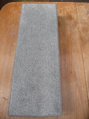 24x8.50inches(61x22cm) 12x STAIR PADS / TREADS  GREY SOFT PILE #3315