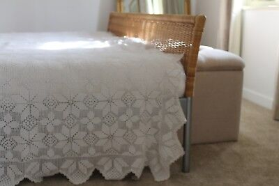French antique crochet bedspread