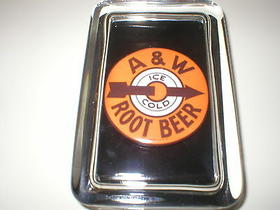 A & W Root Beer Soda Bottle Advertising Sign Label Logo Glass PAPERWEIGHT