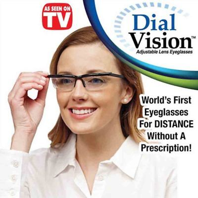 Adjustable Eyewear Dial Vision Variable Focus Glasses For Distance & Reading RX