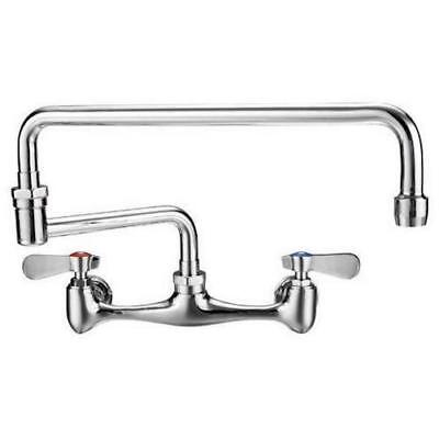 "AT Faucet Commercial 8"" Center Wall-Mount Faucet 18"" Spout NSF Certified"