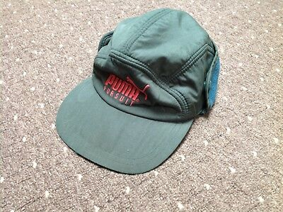 Vintage Puma Pursuit Hat With Roll Down Ear Warmer