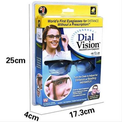 Adjustable Eyeglasses Dial Vision Variable Focus Glass For Distance and Reading