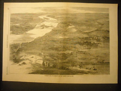 Richmond, Virginia, Civil War Birds Eye View 1862