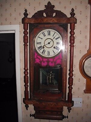 victorian wall clock for restoration