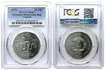 20 Mark 1972 Cranach Democratic Republic East Germany Pcgs Ms67