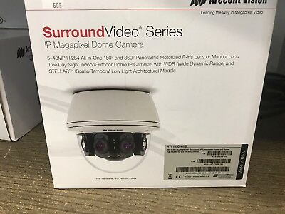 Arecont Vision AV8185DN IP Camera 8MP 180 Degree View H.264  **New and Sealed**