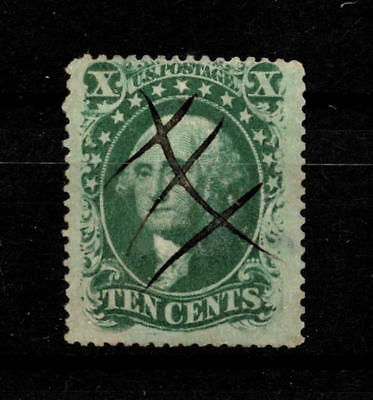 USA, 1857, George Washington 10c, Mi. #11, Sc. #33, cancelled
