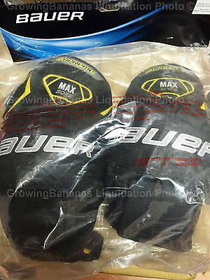 Bauer Supreme Ice Hockey Goalie Knee Guard! JR Junior, Thigh Pad Guards 1041631
