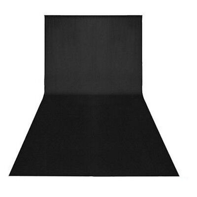 3m x 6m Studio Photography Black Muslin Cotton Background Backdrop Sheet J2D5