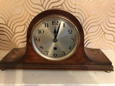 Art Deco Mantle Clock - Needs Key, Good For Spares Repairs