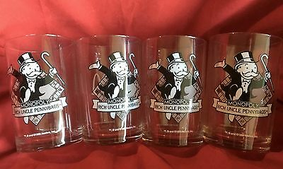 '4 - McDONALD'S '96-97 MONOPOLY RICH UNCLE PENNYBAGS GLASSES, Black/White