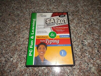 Princeton Review SAT & ACT 2002 Deluxe Mavis Beacon Teaches Typing Pc Cd-Rom
