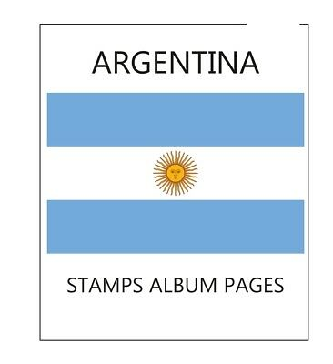 Argentina album pages Filkasol - 2016 year (NOT STAMPS)