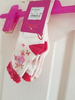 Ted Baker Baby Girls Socks. Designer. 0-6 Months.