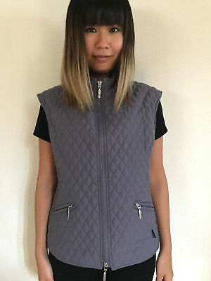 Barbour Diamond Quilted Microfiber Vest Women's Size 10 Usa Medium