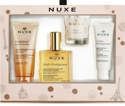 Nuxe Huile Prodigieuse Gift Set With Candle, Shower Oil, Moisturising Cream £54