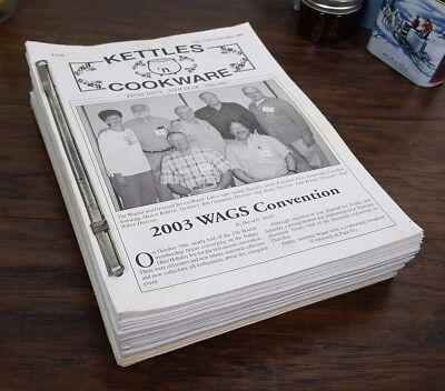 Kettles 'N Cookware Cast Iron Reference Newsletters Griswold Wagner 1992 - 2003