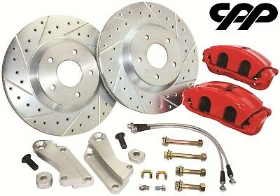 C5 Performance Red Caliper Disc Brake Conversion Kit Chevelle Nova GTO Camaro