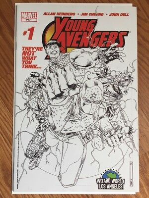 Young Avengers # 1 Variant Wizard Sketch 1St Kate Bishop Nm-