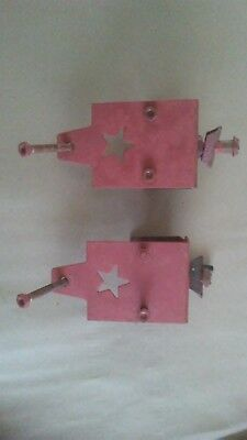 Vintage Star design sliding barn door hardware. 1 - pair