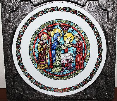 'THE PURIFICATION' Limoges Christmas Plate by Andre Restieau Noel Vitrail