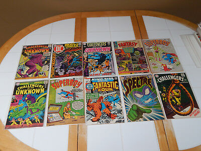 LARGE Silver Age Comic Lot Of TEN Comics W/Key #1 Issue VG+ Condition