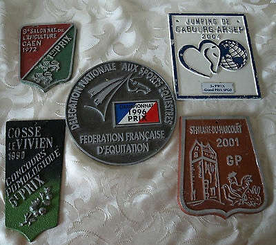 French vintage lot of 5 agricultural show prize plaques