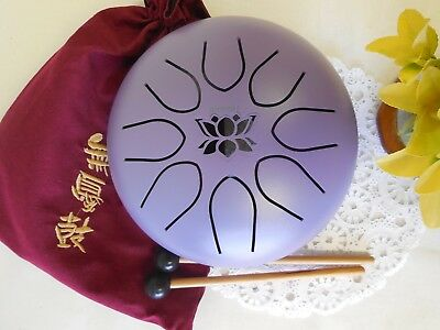 "WuYou  8"" 20cm UFO tongue drum, Lotus symble drum, Handpan, FREE Mallets & bag"